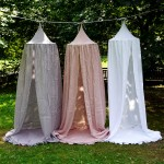 Canopy bed dusty pink 100% linen
