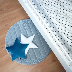Quilted play mat grey