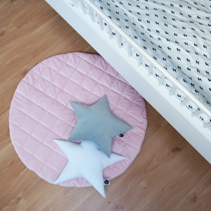 Quilted play mat pink