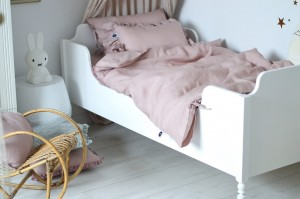 Linen bedding set DUSTY PINK