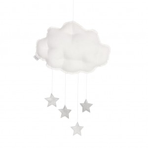 Linen cloud mobile white