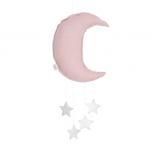 Linen moon mobile dusty pink