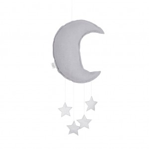 Linen moon mobile grey