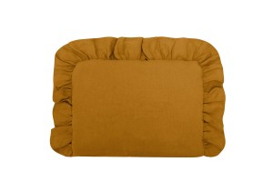 Baby pillow with ruffle MUSTARD