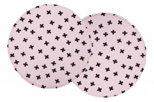 Play mat Pluses on Powder Pink