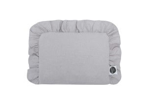 Baby pillow with ruffle GREY