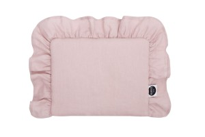 Baby pillow with ruffle DUSTY PINK