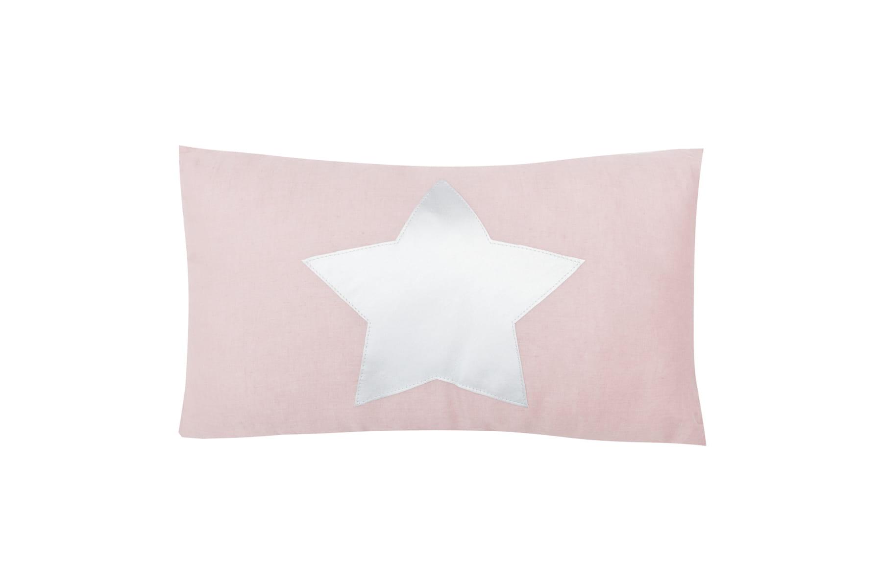 Linen Pillow With Star Dusty Pink Nukko Design